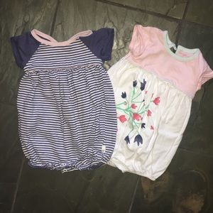 Other - 3/$15 Burt's Bees Baby Girl onesies set of 2